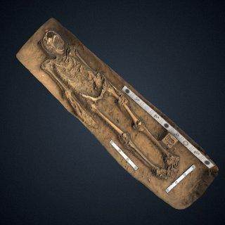 3d model of Captain Gabriel Archer burial
