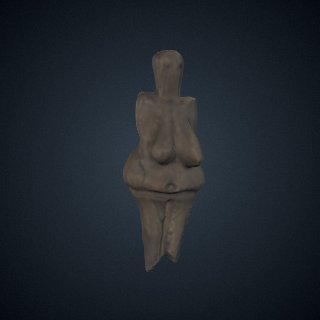 3d model of Venus Figurine, Cast