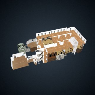3d model of Carnegie Mansion: Interior