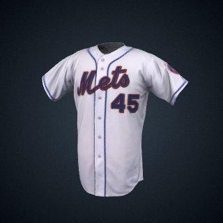 3d model of New York Mets jersey worn by Pedro Martinez