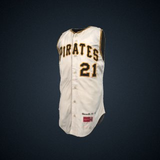 3d model of Baseball Jersey worn by Pittsburgh Pirate Roberto Clemente
